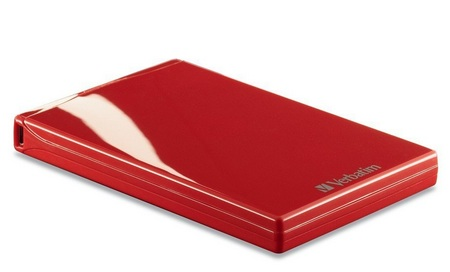 Verbatim Acclaim USB Portable Hard Drive red