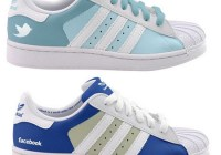 Adidas Facebook and Twitter Superstars Sneakers