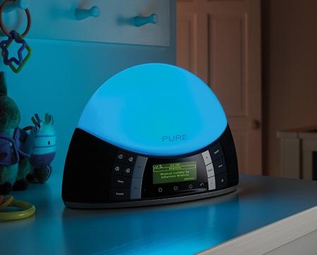 PURE Twilight Digital FM Radio Alarm Clock blue
