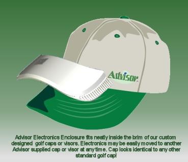 SkyKap Advisor Golf Rangefinder GPS Cap
