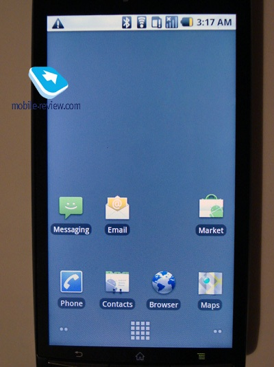Sony Ericsson XPERIA ANZU X12 Android Phone Previewed home screen