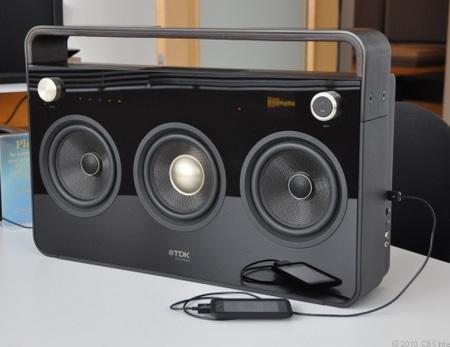 TDK Three-Speaker Boombox