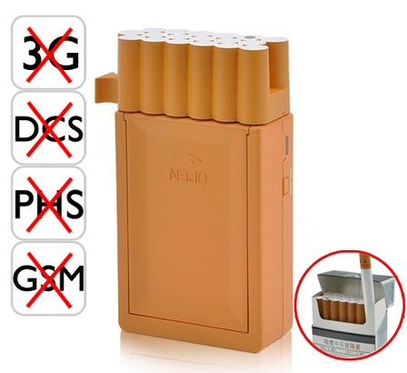 The World's Smallest Cellphone Jammer pretends to be Cigarette Pack