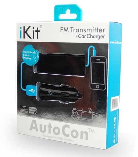 iKit AutoCon FM Transmitter with Touchscreen Control package