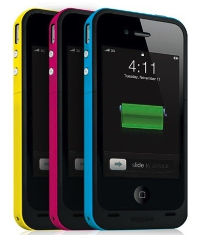 mophie juice pack plus for iPhone 4 colors