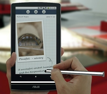 Asus Eee Pad MeMO 7-inch Tablet will run Android 3.0 Honeycomb media note