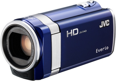 JVC HD Everio GZ-HM450 and GZ-HM440 Full HD Camcorders blue