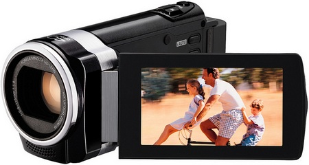 JVC HD Everio GZ-HM450 and GZ-HM440 Full HD Camcorders open
