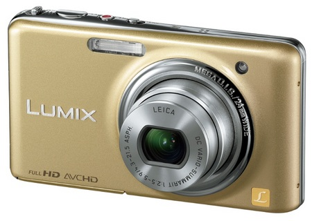 Panasonic LUMIX DMC-FX78 Ultra-Compact Digital Camera with Touchscreen and Full HD Video gold