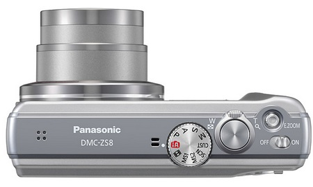 Panasonic LUMIX DMC-ZS10 and DMC-ZS8 Digital Camera with 16x Optical Zoom top
