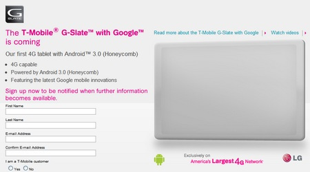 T-Mobile G-Slate by LG Coming with 4G Support