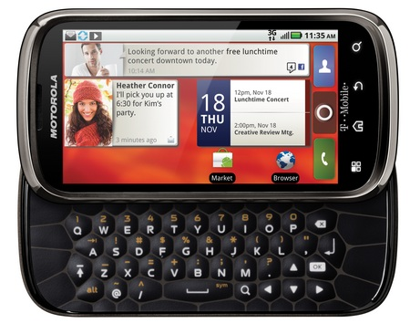 T-Mobile Motorola CLIQ 2 QWERTY Android Phone keyboard