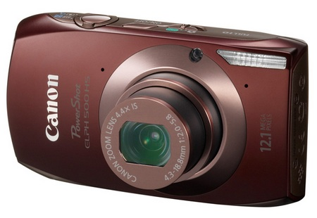 Canon PowerShot ELPH 500 HS Touchscreen Camera brown