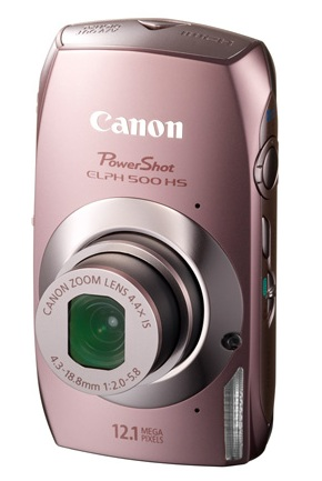 Canon PowerShot ELPH 500 HS Touchscreen Camera pink