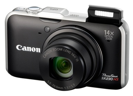 Canon PowerShot SX230 HS GPS-enabled Digital Camera black