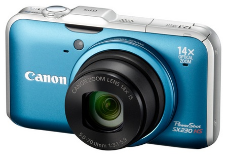 Canon PowerShot SX230 HS GPS-enabled Digital Camera blue