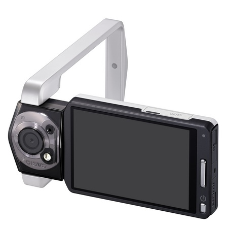 Casio TRYX Camera with a Tricked-Out Design white flip display