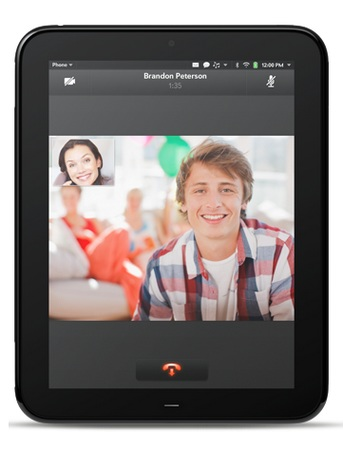 HP TouchPad webOS Tablet video call