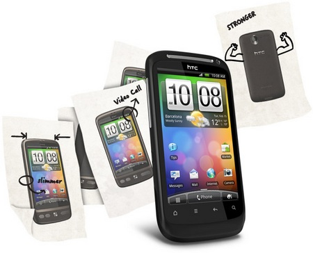 HTC Desire S Android Smartphone with Unibody Design 3