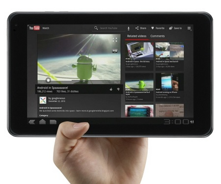 LG Optimus Pad V900 Android 3.0 Tablet on hand