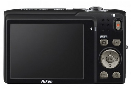 Nikon CoolPix S3100 digital camera back