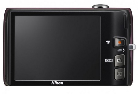 Nikon CoolPix S4100 digital camera back