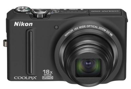 Nikon CoolPix S9100 Pocketable 18x Zoom Camera front
