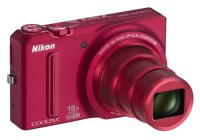 Nikon CoolPix S9100 Pocketable 18x Zoom Camera red