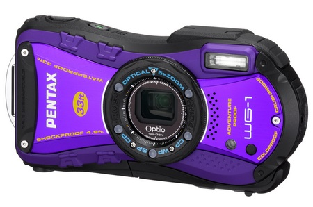 Pentax Optio WG-1 Rugged digital camera purple