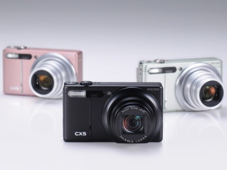 Ricoh CX5 Digital Camera with Hybrid AF System and 10.7x Optical Zoom colors