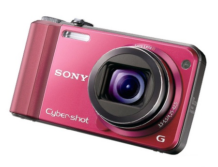 Sony Cyber-shot DSC-H70 10x Zoom Digital Camera red