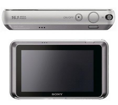 Sony Cyber Shot DSC T110 Touchscreen Digital Camera Back Top