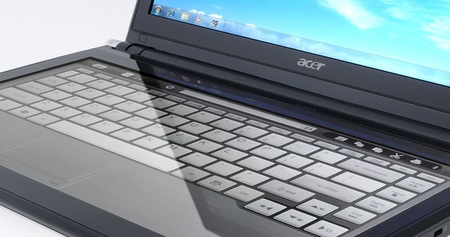 Acer ICONIA 6120 Dual-Screen Touchbook virtual keyboard