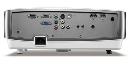 BenQ W1100 Full HD DLP Projector back