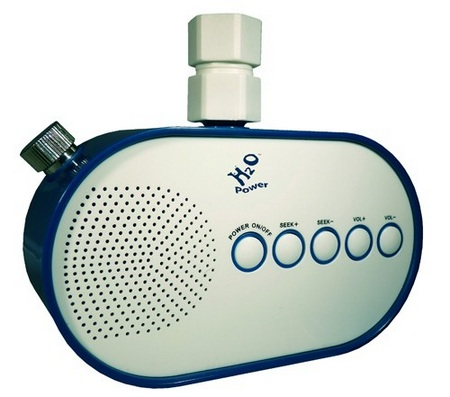 H2O Water Pressure Powered Shower Radio