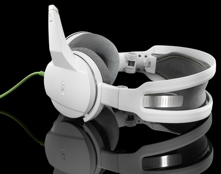 Harman AKG GHS-1 Portable Gaming Headset white green