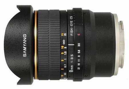 Samyang 8mm f3.5 FISH-EYE CS VG10 Lens for Sony NEX-VG10 Camcorder