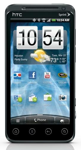 Sprint HTC EVO 3D 4G Smartphone with QHD 3D Display homescreen