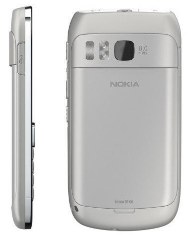 Nokia E6 QWERTY Business Smartphone back side