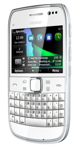 Nokia E6 QWERTY Business Smartphone silver