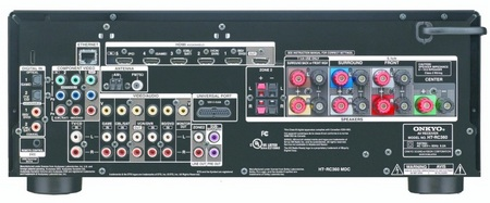 Onkyo HT-RC370 and HT-RC360 AV Receivers back