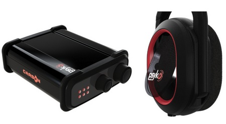Psyko Carbon gaming headset side vent and amp