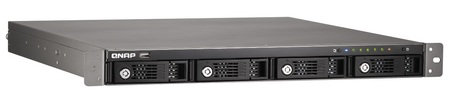QNAP TS-412U Entry-level 4-drive Rack-mounted NAS Server