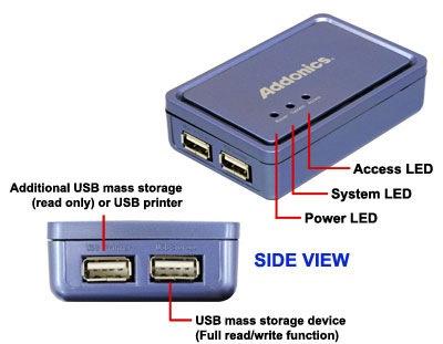 Addonics NAS30U2 NAS 3.0 Adapter side view 1
