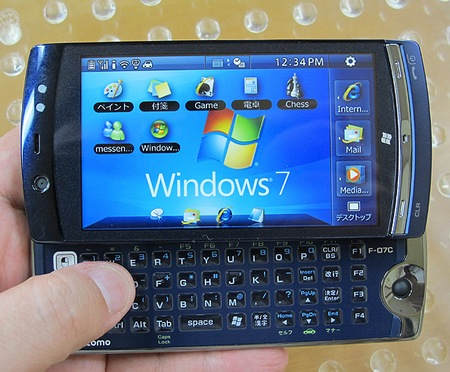 NTT DoCoMo Fujitsu LOOX F-07C Windows 7 Handset live 4