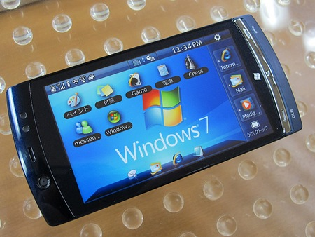 NTT DoCoMo Fujitsu LOOX F-07C Windows 7 Handset live 6