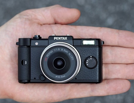 Pentax Q is the World's Smallest and Lightest Interchangeable Lens Camera on hand