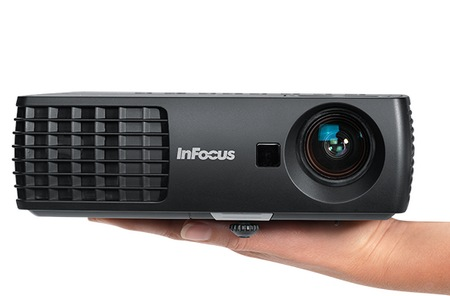 InFocus IN1110 and IN1112 Projectors on hand