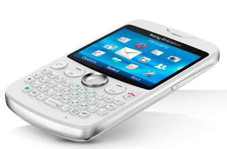 Sony Ericsson txt QWERTY Phone white