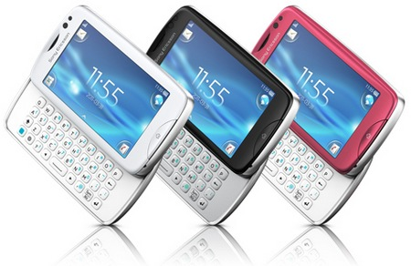 Sony Ericsson txt pro with QWERTY Keyboard and Touchscreen colors